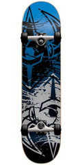 DarkStar Drench FP Complete Skateboard - Silver/Blue - 7.625in