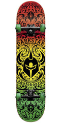 DarkStar Convolute Youth Mid Complete Skateboard - Rasta Fade - 7.25in