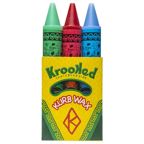 Krooked Kurb Skateboard Wax - Green/Red/Blue