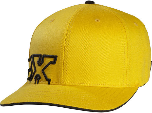 Fox Border Strapped Flexfit Hat - Yellow - Mens Hat