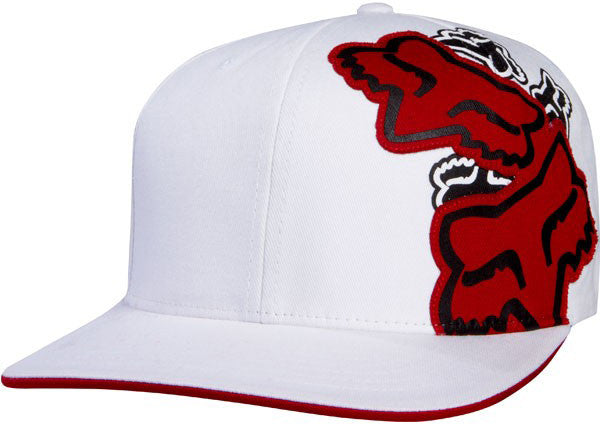 Fox Slap Stick Flexfit Hat - White - Mens Hat