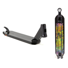 Lucky Covenant Pro Scooter Deck  - Black/Multi - 4.45in x 20.5in