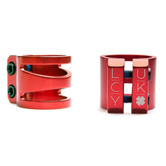 "Lucky Dub Cut Out 1 3/8"" Scooter Clamp - Red"