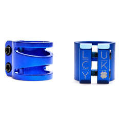 "Lucky Dub Cut Out 1 3/8"" Scooter Clamp - Blue"