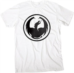 Dragon Watermark Icon T-Shirt - White - Mens T-Shirt
