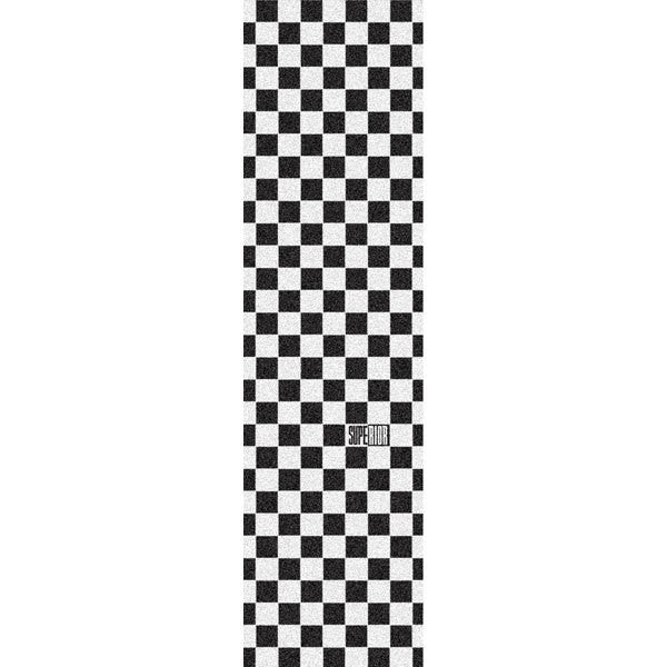 Superior Checker Skateboard Griptape - Black/White (1 Sheet)