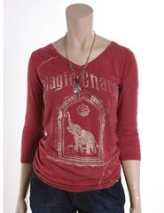 Lucky Magic Charm Tee - Red - Womens Shirt