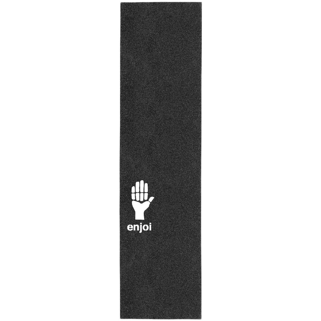Enjoi Hand Sign Die Cut Grip 9in x 33in Skateboard Griptape - Black (1 Sheet)