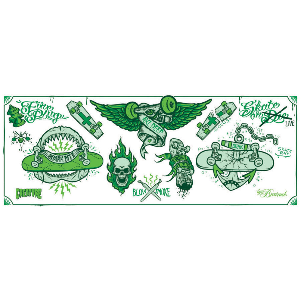 Creature Babes Temporary Tattoo - Green