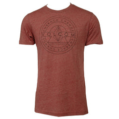 Volcom Varlet Tee - Red - Mens T-Shirt