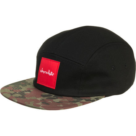 Chocolate Camo Camper Men's Hat - Black