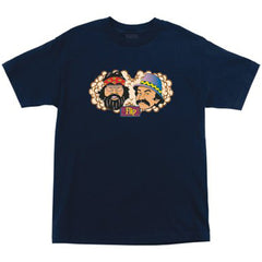 Flip Cheech and Chong Regular S/S Mens T-Shirt - Navy