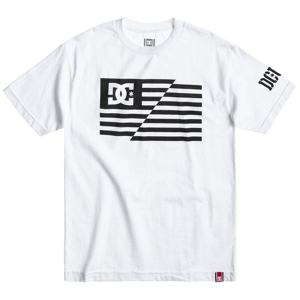 DC Rob Dyrdek USA Flag S/S Men's T-Shirt - White/Black WBN0