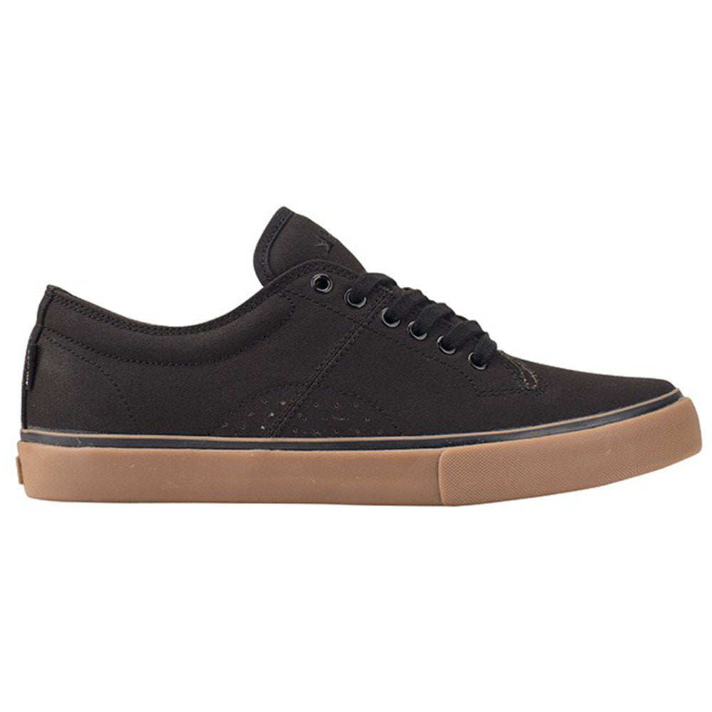 Dekline Bennett Skateboard Shoes - Black/Gum Canvas