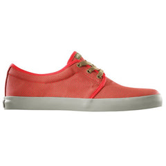 Dekline River Skateboard Shoes - Red/Sand Chevron Canvas