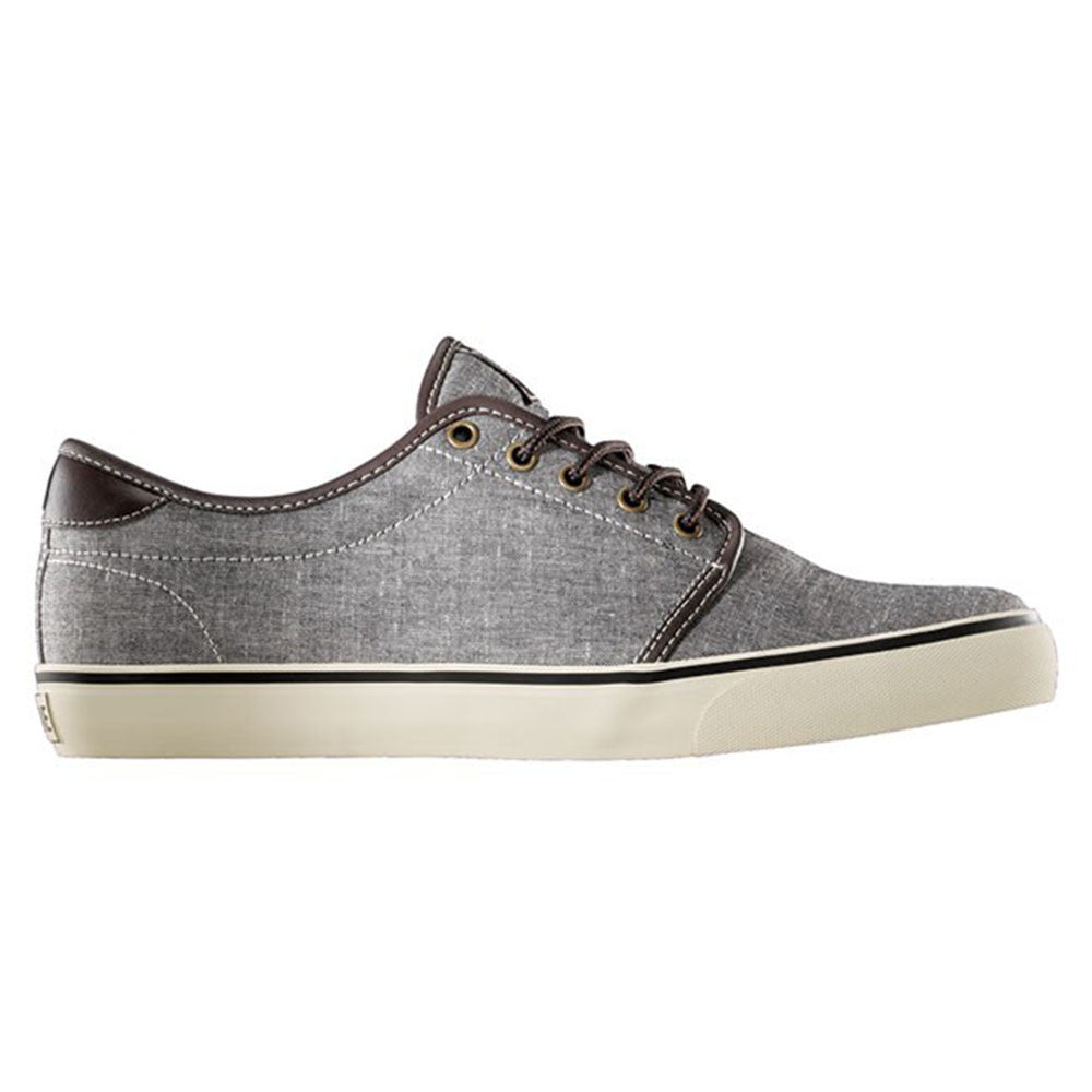 Dekline Santa Fe Skateboard Shoes - Grey Espresso Chambray Leather