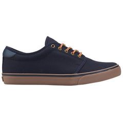 Dekline Santa Fe Skateboard Shoes - Navy/Gum Canvas