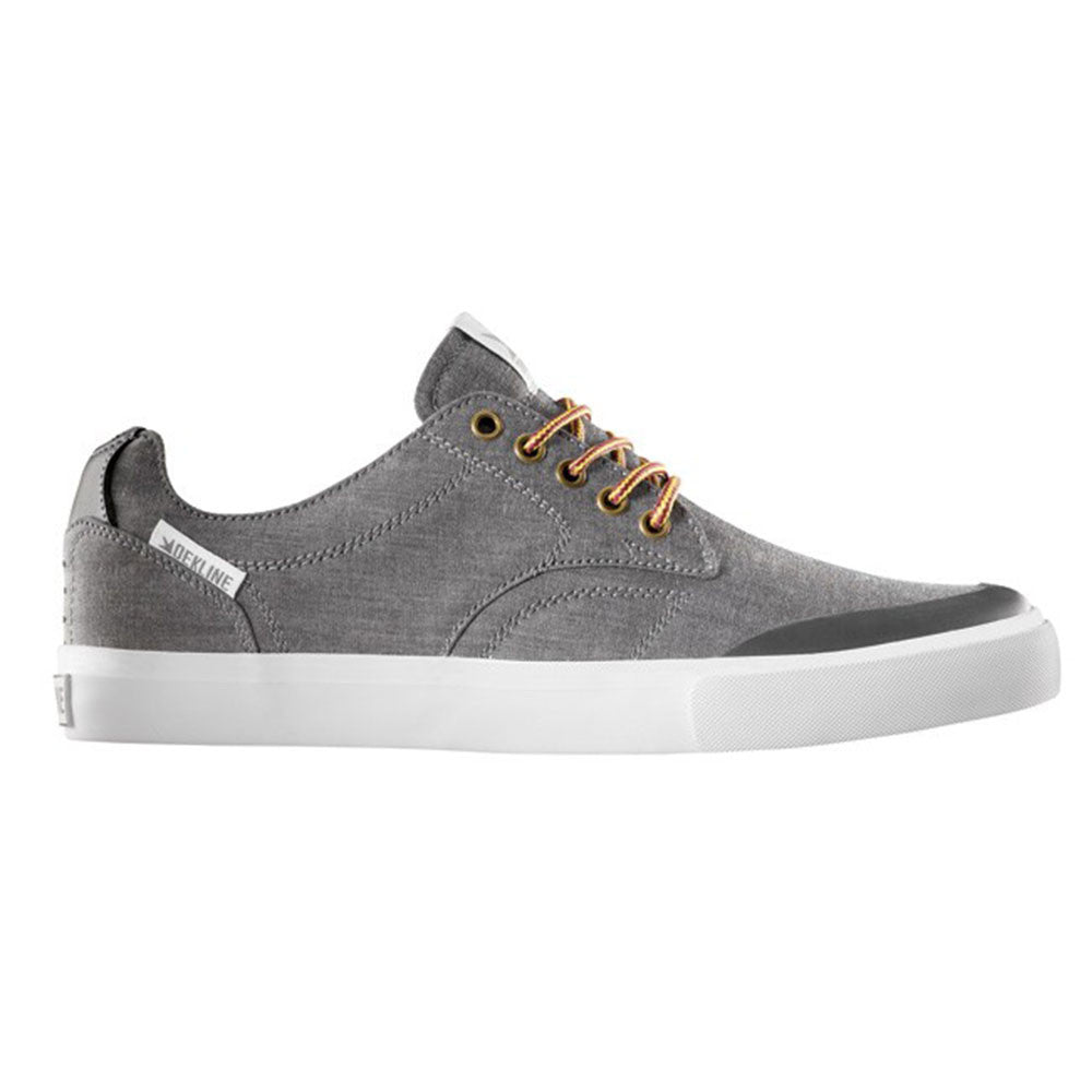 Dekline Tim Tim Skateboard Shoes - Pewter/White Chambray