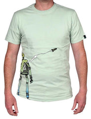Dunkelvolk Robot T-Shirt - Green - Mens T-Shirt