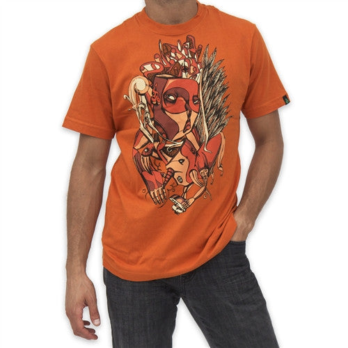 Dunkelvolk Phoenix Mens T-Shirt - Orange