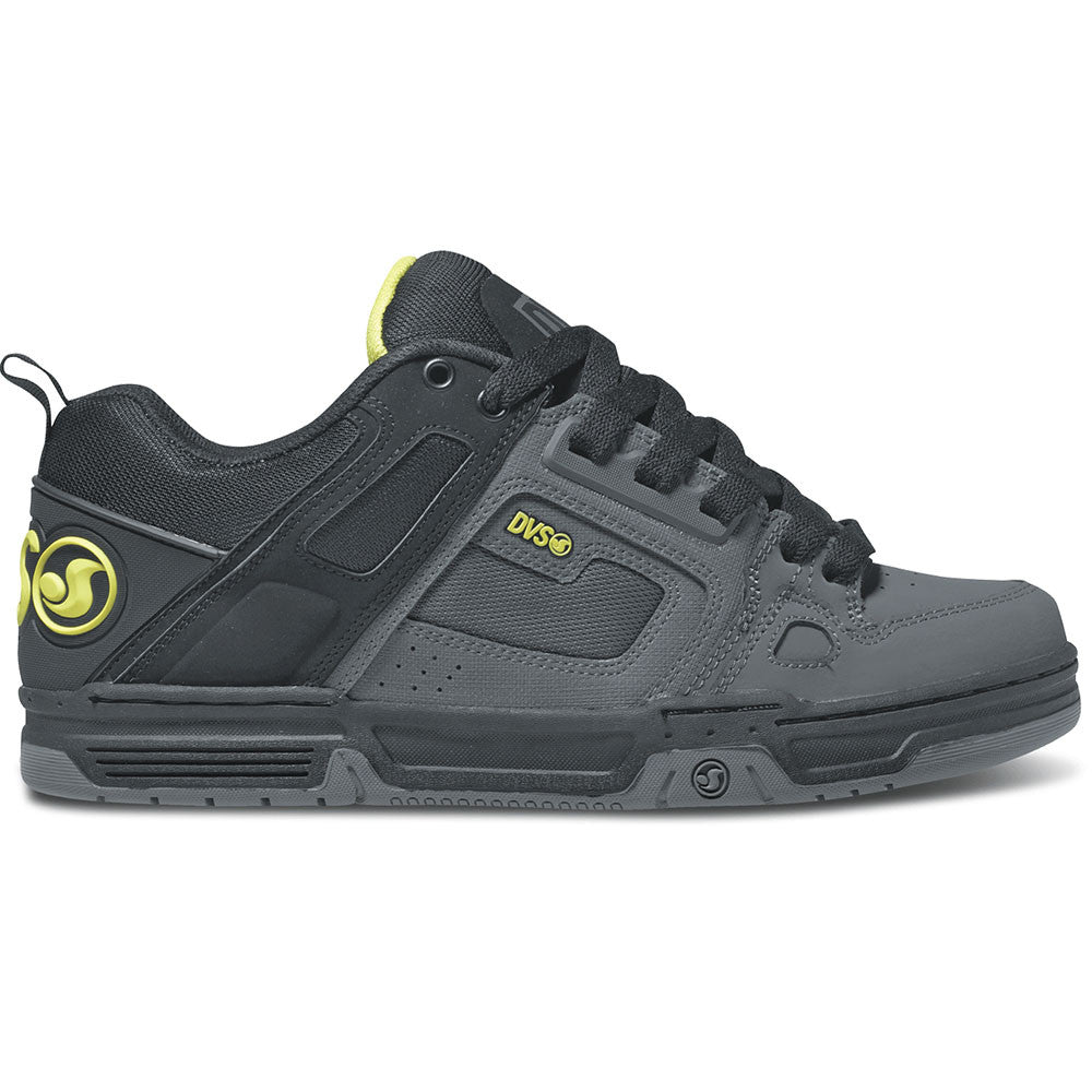 DVS Comanche Skateboard Shoes - Grey/Black/Lime Nubuck 023