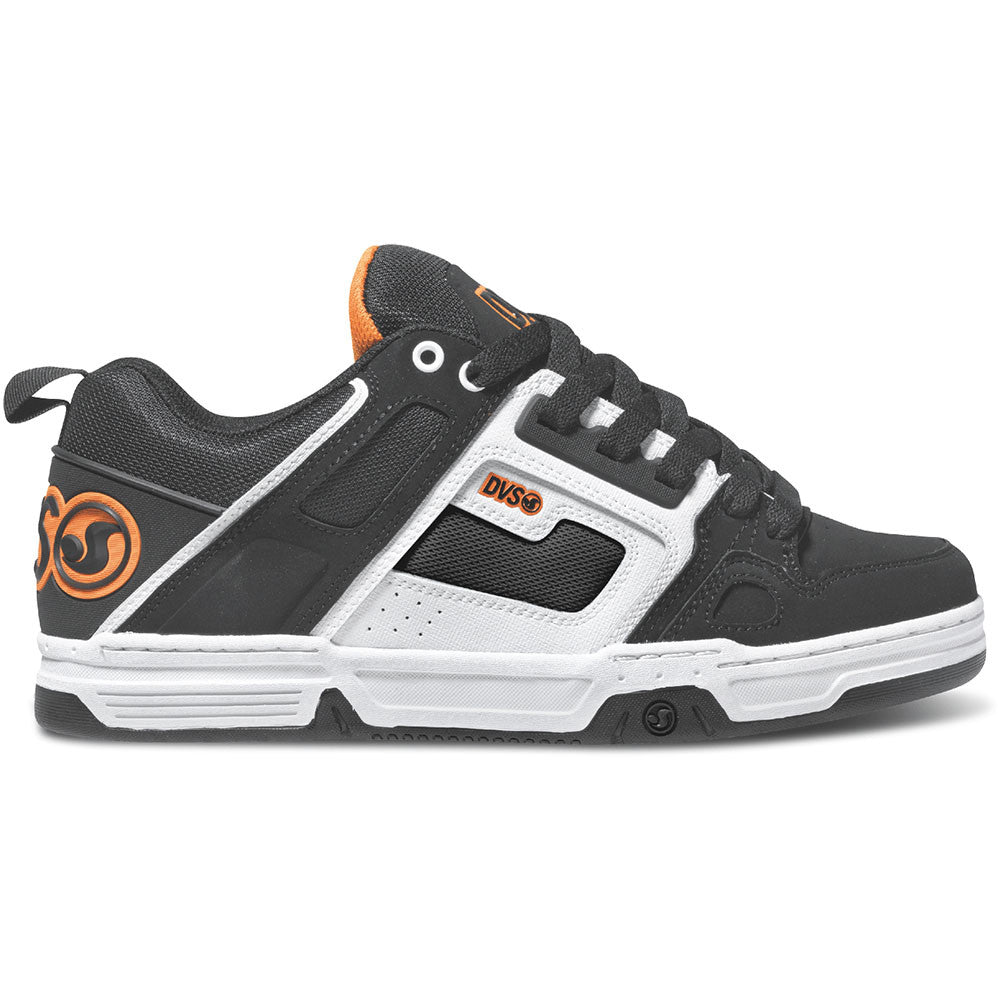 DVS Comanche Skateboard Shoes - Black/White Nubuck Gunny 961