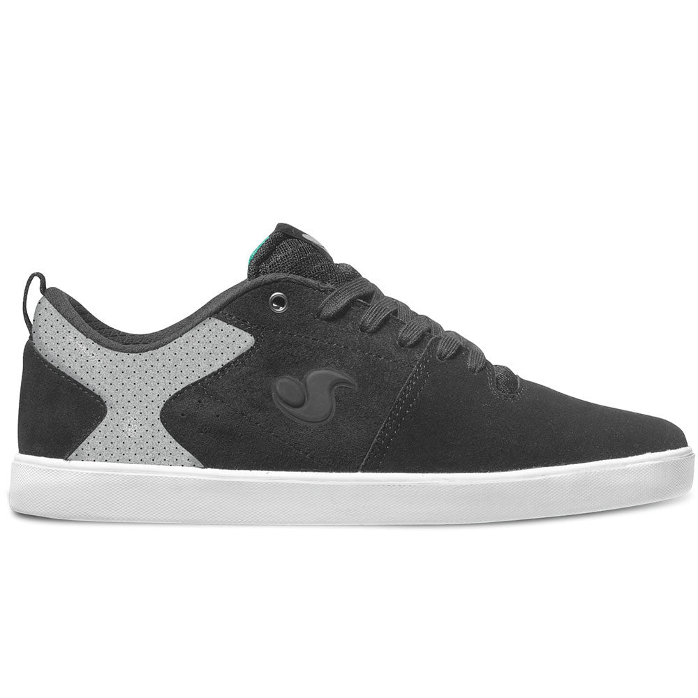 DVS Nica Skateboard Shoes - Black/Grey 20 Year Suede 003