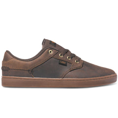 DVS Quentin Skateboard Shoes - Brown Leather 201