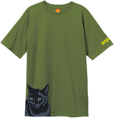 Enjoi Black Cat Premium Men's T-Shirt - Military Green
