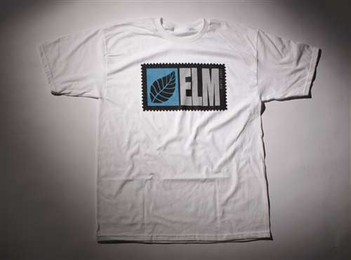 Elm Company The Stamp T-Shirt - White - Mens T-Shirt