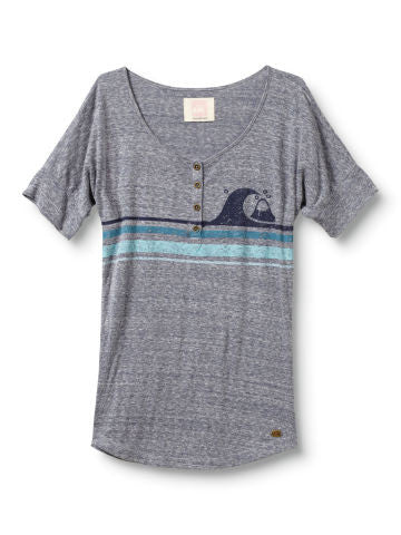 Quiksilver Mountain and Wave Henley - Grey - Womens Shirt