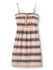 Quiksilver Chambray Stripe Dress - Blue - Dress