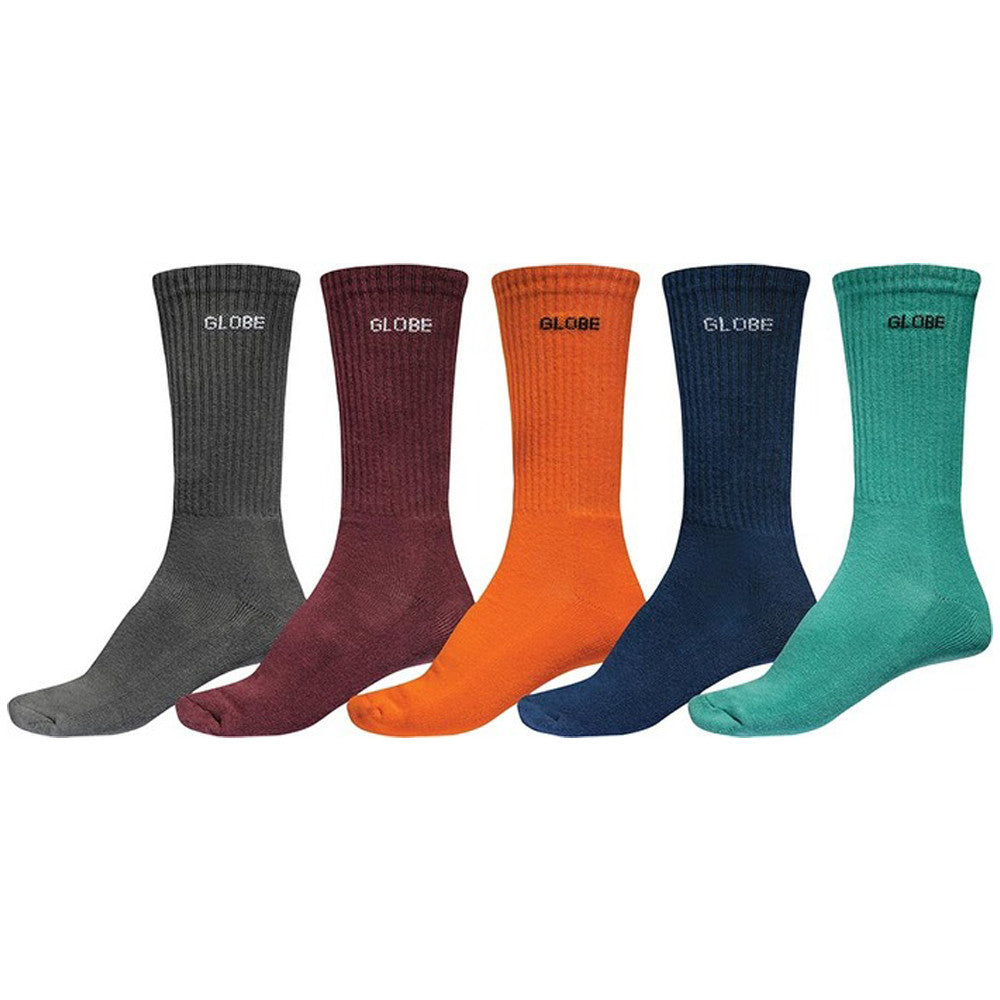 Globe Kensington Crew Men's Socks - Assorted (5 Pairs)
