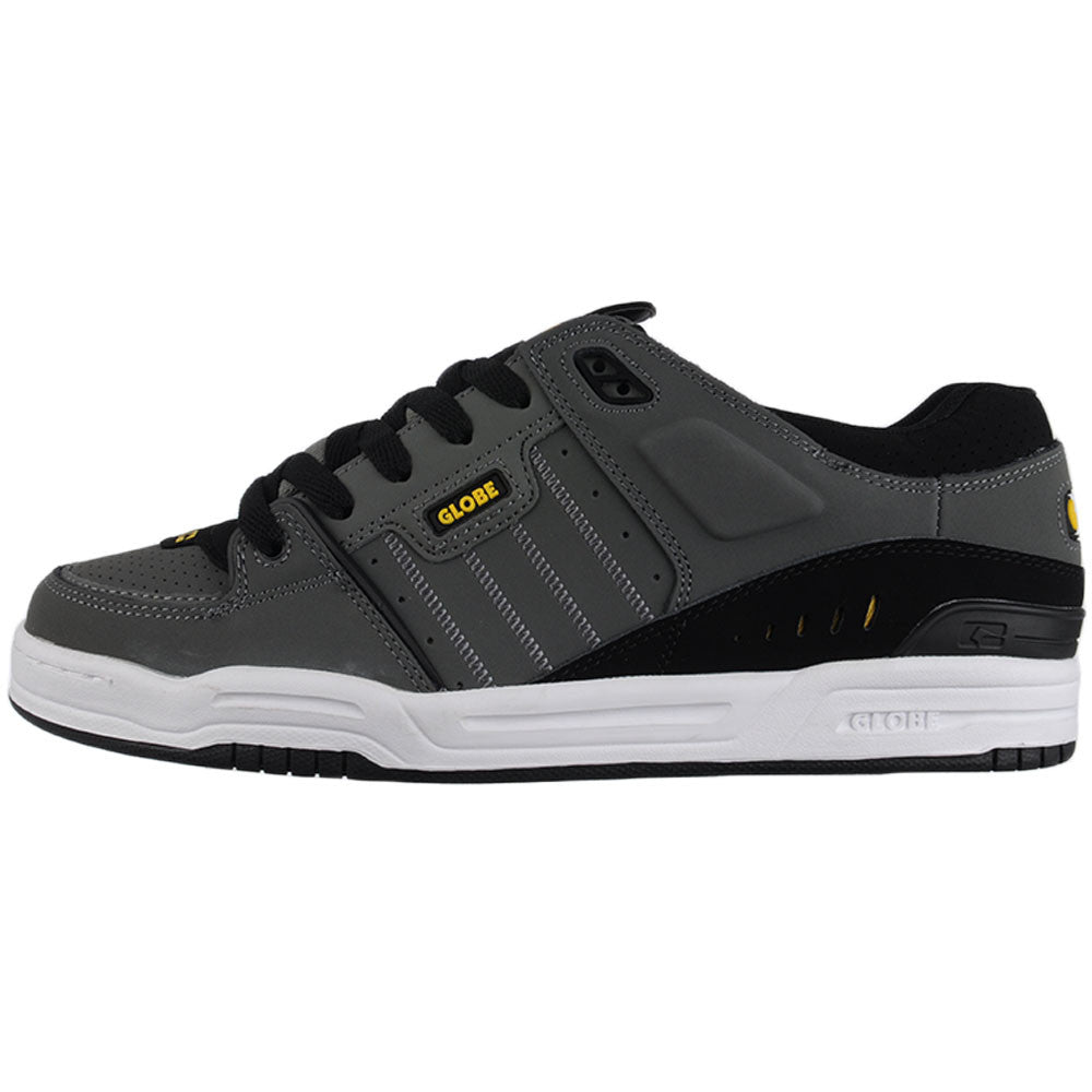 Globe Fusion Skateboard Shoes - Charcoal/Black/Yellow