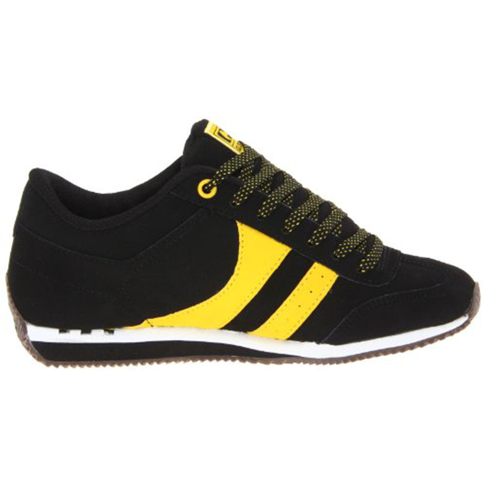 Globe Pulse Skateboard Shoes - Black/White/Yellow