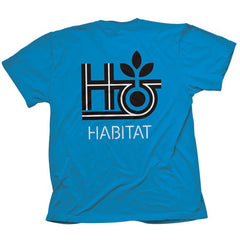 Habitat Pod Outline Short Sleeve Men's Shirt - Blue