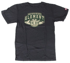 Element Ridges Mens T-Shirt - Black