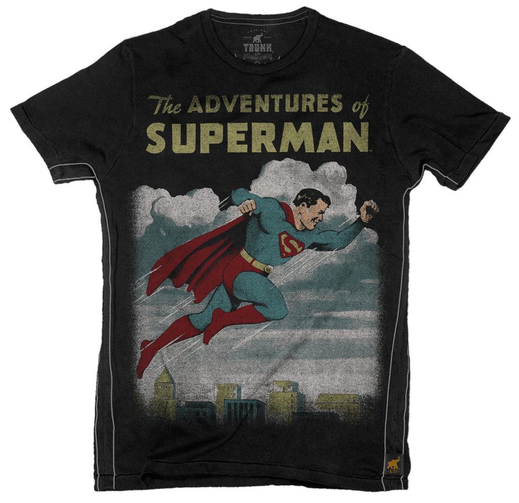 The Adventures of Superman Mens T-Shirt - Black
