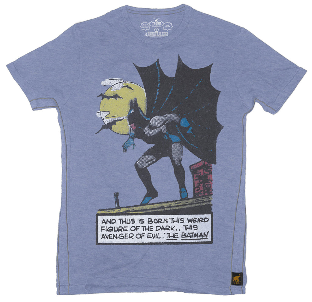 Batman Origin Mens T-Shirt - Blue