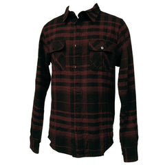 Rusty Chopsaw L/S Flannel Shirt - Red - Mens T-Shirt