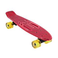 Karnage Retro Chrome Complete Skateboard - Red/Yellow