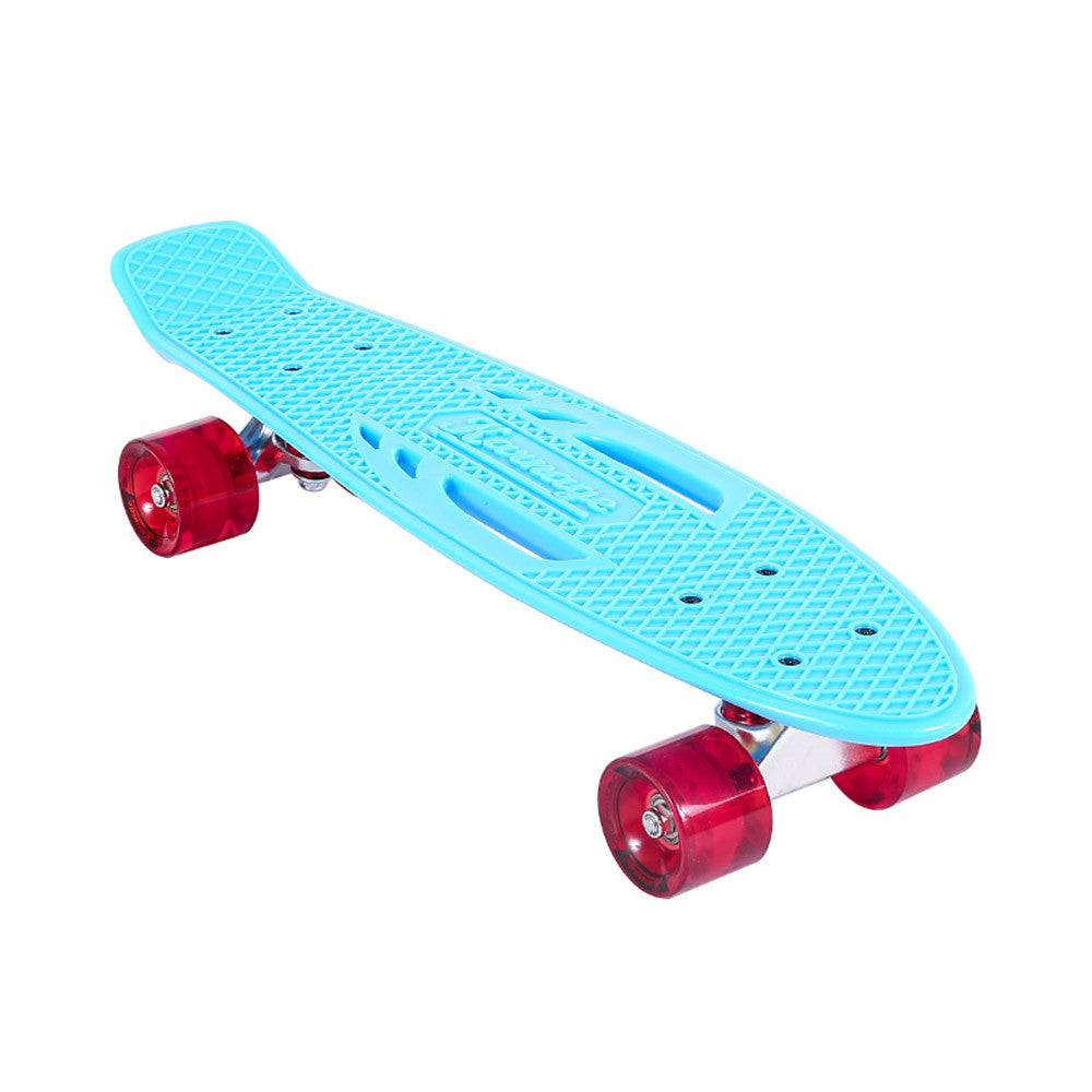 Karnage Retro Matte Complete Skateboard - Blue/Red