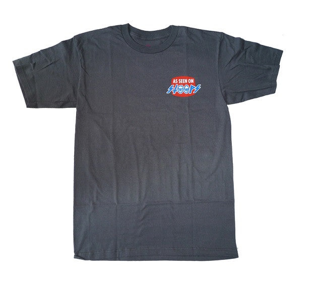Krooked Seen on Stoops S/S - Charcoal - Men's T-Shirt