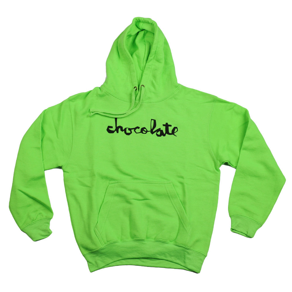 Chocolate Neon Pullover Hoodie Men's Sweatshirt - Neon Green