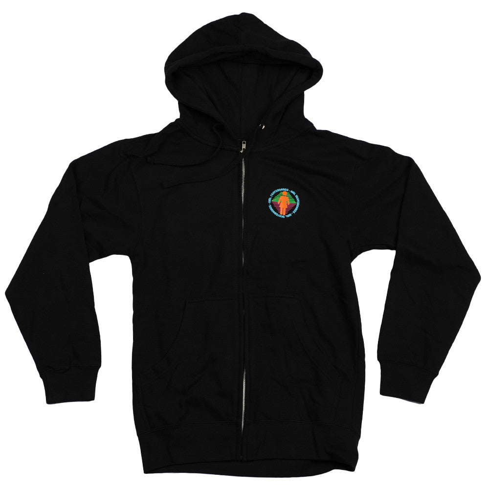Girl Scout Zip Hoodie Men's Sweatshirt - Black