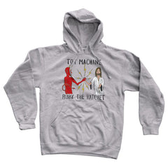 Toy Machine Bury The Hatchet Hooded Men's Sweatshirt - Grey