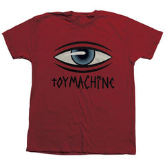 Toy Machine See Men's T-Shirt - Cardinal