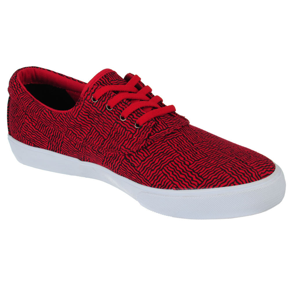 Lakai Camby Men's Skateboard Shoes - Red Canvas