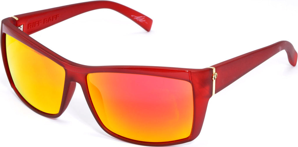 Electric Visual Riff Raff Mens Sunglasses - Red