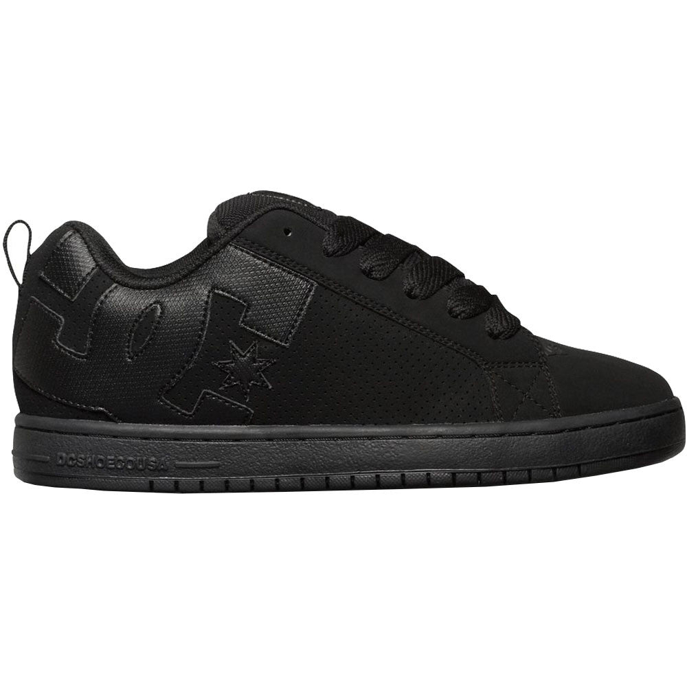 DC Court Graffik Men's Skateboard Shoes - Black/Black/Black XKKK